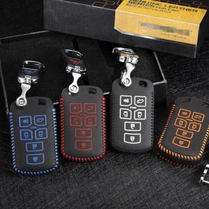 Pour Toyota Sienna voiture Sac clé couverture en cuir clés automatique 2012-2020 6 boutons accessoires automobiles OEM