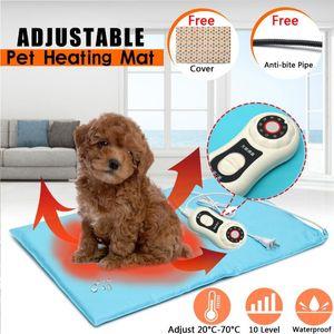 Pet Dog Cat 40x60cm Waterproof Electric Heating Pad 10 Level Adjustable Body Winter Warmer Mat Animals Heater Blanket Random