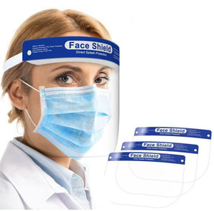Thick Face Shield with Transparent Face and Elastic Loop Cover Full Face Anti-Dust Anti-Spitting Designer Masks 200pcs