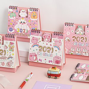 2021 Cartoon Animal Series Desktop Calendar Double Schedule Schedule Planner Annual Agenda Organizer Office Supplies