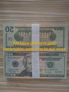 Hot Prop Money Banknote Movie Collection Games 20 Dollars Fake Party US Bar Gifts Money Sales Dollar Prop 51 Jngmo