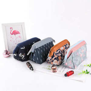 Oxford Cloth Toiletry Pouch Flamingo Flower Zipper Pouches Square Waterproof Dust Proof Feather Makeup Bag Convenient New 3 8rs L2
