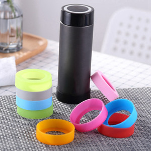 New Bottom Protective Cover Cap Rubber Cup Sleeve Insulation Cup Silicone Cover Water Bottle Coaster Anti-Wear And Anti-Drop Bottom Coaster