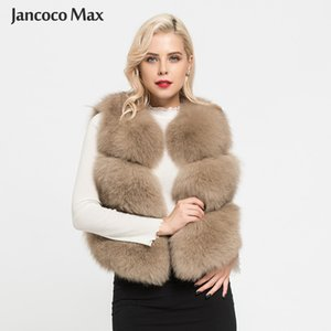 New Arrivals Women's Real Fox Fur Vest Fashion Lady Natural Fur Waistcoat Luxury Gilets S1673 201103