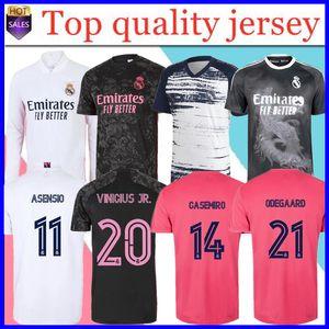 Real Madrid Fussball Jersey 20/21 Hazard Sergio Ramos Benzema Vinicius Camiseta Football Hemd Uniformen Männer + Kinder Kit Sets 202