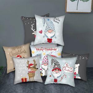 Cute Animal Pattern Cushion Cover Cartoon Christmas Style Pillow Cover for Home Sofa Car Decorative Throw Pillowcase