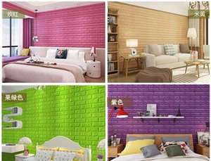 Self-Adhesive 3D Wall Sticker Imitation Brick Marble Embossed DIY Home Decoration Wallpaper Kidroom Kitchen Bedroom TV Backdrop Decor