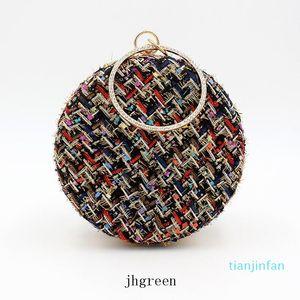 Black Beige New Shoulder Bags Classic Grid Women Bag Lady Round Handbags Crossbody Bags For Women Handbag Purse Hot Sale