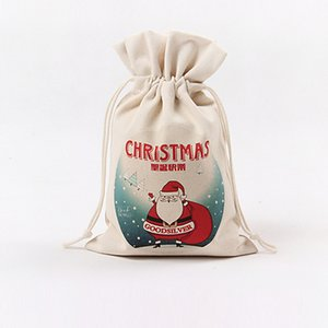 Christmas Gift Packaging Bag 13 Styles Handmade Storage Bag Christmas Cotton Drawstring Gift Storage Bag Free Shipping EWB2344