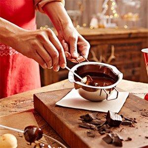 Neue Edelstahl-Schokoladenschmelztopf Doppelkessel-Milchschale Buttersüßigkeit Wärmer Backbackenwerkzeuge 148 G2