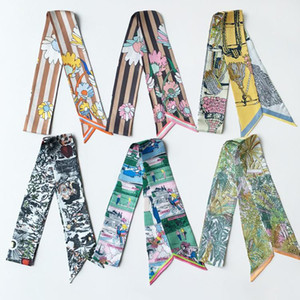 2020 New Style Variety Versatile Artistic Stall Preferably Silk Ribbon Strip Ribbon Scarf Female Bandana Decoration Shawl Woman
