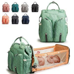 Baby Diaper Bag Folded Large Capacity Waterproof Nappy Bag Kits Mummy Maternity Travel Backpack Nursing Handbag