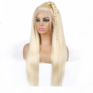 T Part Wig Blonde Hair Brazilian Straight Human Hair Wigs Blonde Color 613 Human Hair T Lace Front Wigs Peruvian Indian