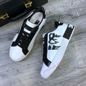 Dolce & Gabbana DG shoes Top Marca Design Sneaker Casual Luxurys Design Shoe Zapatillas de cuero Top Top Sneaker de alta calidad para hombres y mujeres por zapato