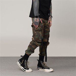 Steampunk Spring and Summer New Retro Multi-pocket Overalls Men's Pants