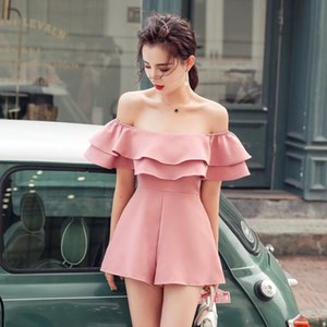 Fashion women new arrival casual off shoulder sexy jumpsuit vintage beach holiday temperament wild trend lovely playsuit romper