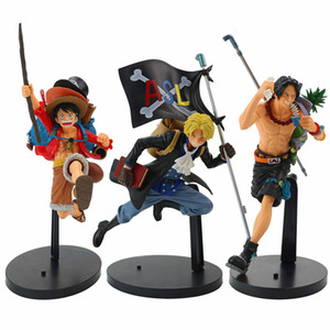 22 cm Anime One Piece Figur Laufen Modellierung Luffy Sabo Ace PVC Action Figure One Piece Anime Figure Kollektiv Modell Puppe Spielzeug 201202
