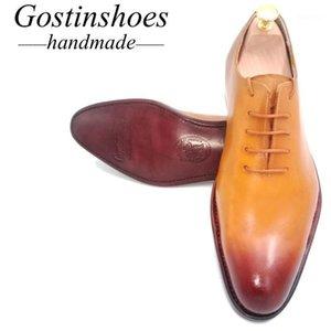 Venta 44 Goodyear Wotted Hecho a mano Cuero Hombre Oxfords Oxfords Shoeswhole Cut Vestido Formal Negocio Zapatos de boda Encaje-up Pointed1