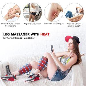 Elettrico Compressione Aria Leg Masr Vitello Promuovere la circolazione del sangue alleviare il dolore stanchezza delle gambe Terapia Mas macchina