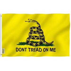 Anley Fly Breeze 3x5 pies No pise la bandera de Gadsden - Banderas de la fiesta de té Poliéster C1002