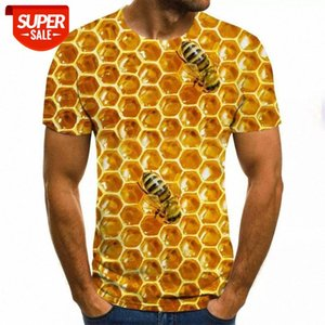 Summer New Men's T-shirt Ms. Bee 3D Sweatshirt 3D Print Personality Short Sleeve Hip Hop O-Neck Top #4J99