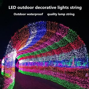 Christmas LED lights string full of star 220V copper wire Christmas decorations star lights outdoor lantern holiday lighting GWB2070