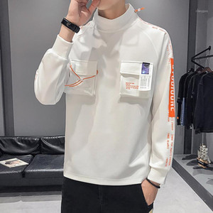Spring Fashion Men Funny Shoes Printing Sweatshirt Hip Hop Brand Multi-pocket Lace up Attire Pullover Hoodies Apparel Size 3XL1