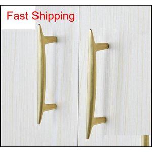 Nordic Style Brushed Brass Tbar Cabinet Knob Handles Furniture Drawer Pulls Kitchen Cupboard Knobs P qylEXg new_dhbest
