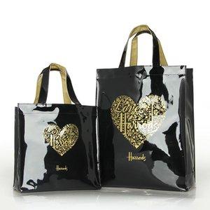 Мода ПВХ многоразовой сумки женщины Мешок Экология Лондон Shopper большая емкость водонепроницаемые сумки на ремень