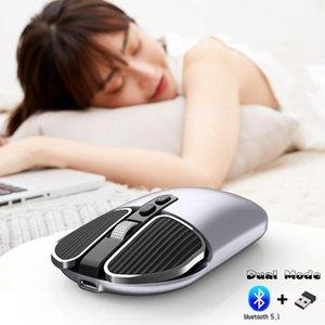 Bluetooth Wireless Mouse Dual Mode аккумуляторная оптическая USB оптическая USB мышь Bluetooth геймер портативный для PC Notebook MateBook