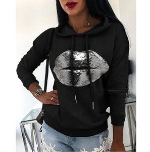Womens Fashion Sweatshirts Casual Print Sweater Pullovers for Girl 2021 Autumn New Hoodies Pattern Jumpers Asian Size 5 Styles