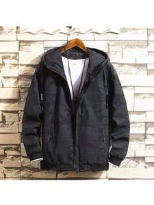 2019 New Arrival Autumn Mens Jacket With Hooded Zipper Tracksuit Coat Jackets Men Hip Hop Street wear Patchwork Coats Q1110