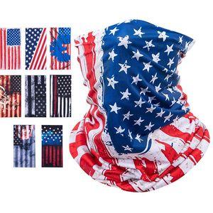 Америка Flag Маски Велоспорт Дыхательные Защитная маска для лица Спорт Бандана Велосипед Половина лица Дизайн обложки Face Shield платке BWA1988