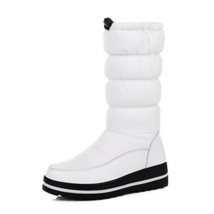 Women waterproof feather cloth and leather boots fashion comfortable warm slippery wear-resisting soles large SIZE# & 39.44: S