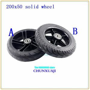8 인치 휠 스쿠터 솔리드 타이어 200x50 전기 스쿠터에 대 한 휠 허브 비 공압이있는 전기 타이어