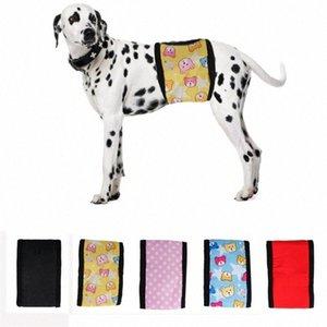 Pantalones perro mascota del pañal físicas algodón reutilizable Bandas del vientre de toallas sanitarias higiénicas Ropa interior Pantalones Wrap Suministros Pañales Pet P725 #