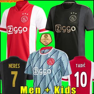 مايوه 20 21 أجاكس أمستردام FC قمصان كرة القدم جيرسي 2020 2021 الرجال PROMES تاديتش NERES ZIYECH + أطفال مجموعات كرة القدم الزي الرسمي بعيدا