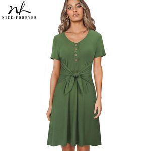 Niza-Forever Summer Women Color Sólido Vestidos casuales Vestido de gran tamaño A244