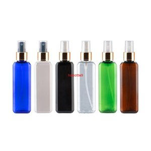 100ml X 50 Empty Square Gold Spray Pump Bottles For Personal Care Packaging 100cc Luxury Perfume Botellas Plastic 3.4ozpls order