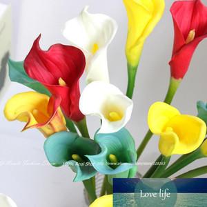 8 Colors! 6pcs lot 65cm Large Artificial PU Real Touch Calla Lily Decorative Flowers Home Decoration Wedding Bridal Bouquet