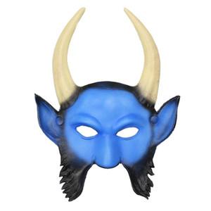 Adulte Masques de moutons standard demi-masque 3D Sheep démon effrayant masques mascarade Corne Halloween Costume Party