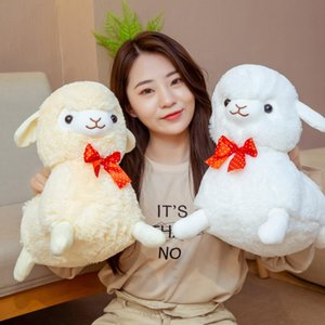 1pcs Small cute Grass Mud Horse Plush Toy Alpaca doll sleeping on the stomach pillow doll girl birthday present