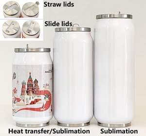 DIY Sublimation Cola Can Water bottle thermos double walled 304 Stainless Steel Tumbler Insulated Vacuum With lid blank HH9-3405