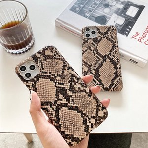 Retro Snake Skin PU Leather Cases For iphone 12 12mini 11Pro Max 7 8 Plus X XS XR Phone Case Crocodile Texture Back Cover