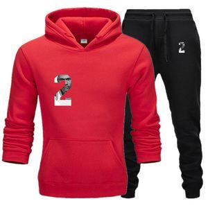 Ropa para hombre Casual 2020 nuevos diseñadores chándales de los juegos de pantalones de impresión de letras sweatsuits Hommes del basculador Fit pollover capucha sudaderas largas Trajes