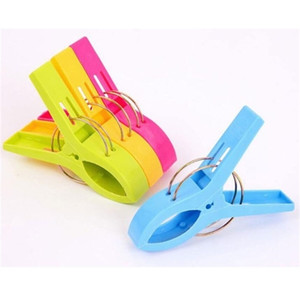 11.5 cmLarge Bright Colour clothes Clip Plastic Beach Towel Pegs clothespin Clips to Sunbed Multicolor