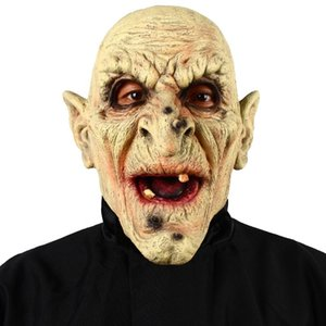 Patygr Halloween Witch Vampire Adult Mask Horror Old Man Scary Latex Costume Mask