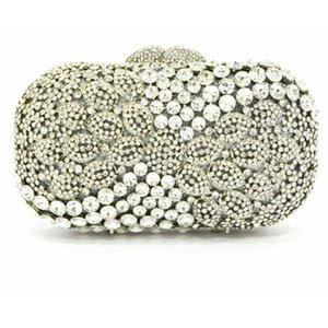 Luxury Wallet Diamond Shoulder Purses Box Evening Crystal Solid Clutches Handbag Wedding Bridal Party Gift Bag Designer Varrt