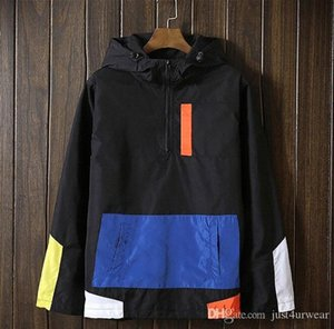 Herren Damen Jacken Sonnenschutz mit Kapuze Windjacke beiläufige Panelled Farbe Jacken-Mantel im Freien langärmelige Jacke Lovers Tops Plus Size WMj6 #