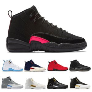 New 12 12s Mens Basketball Shoes Winterized Gym Red College Navy CNY Bulls University Blue men Sport Sneakers Size 7-13